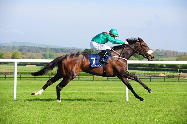 Rehana winning the Canford Cliffs Irish EBF Athasi Stakes (GR3)