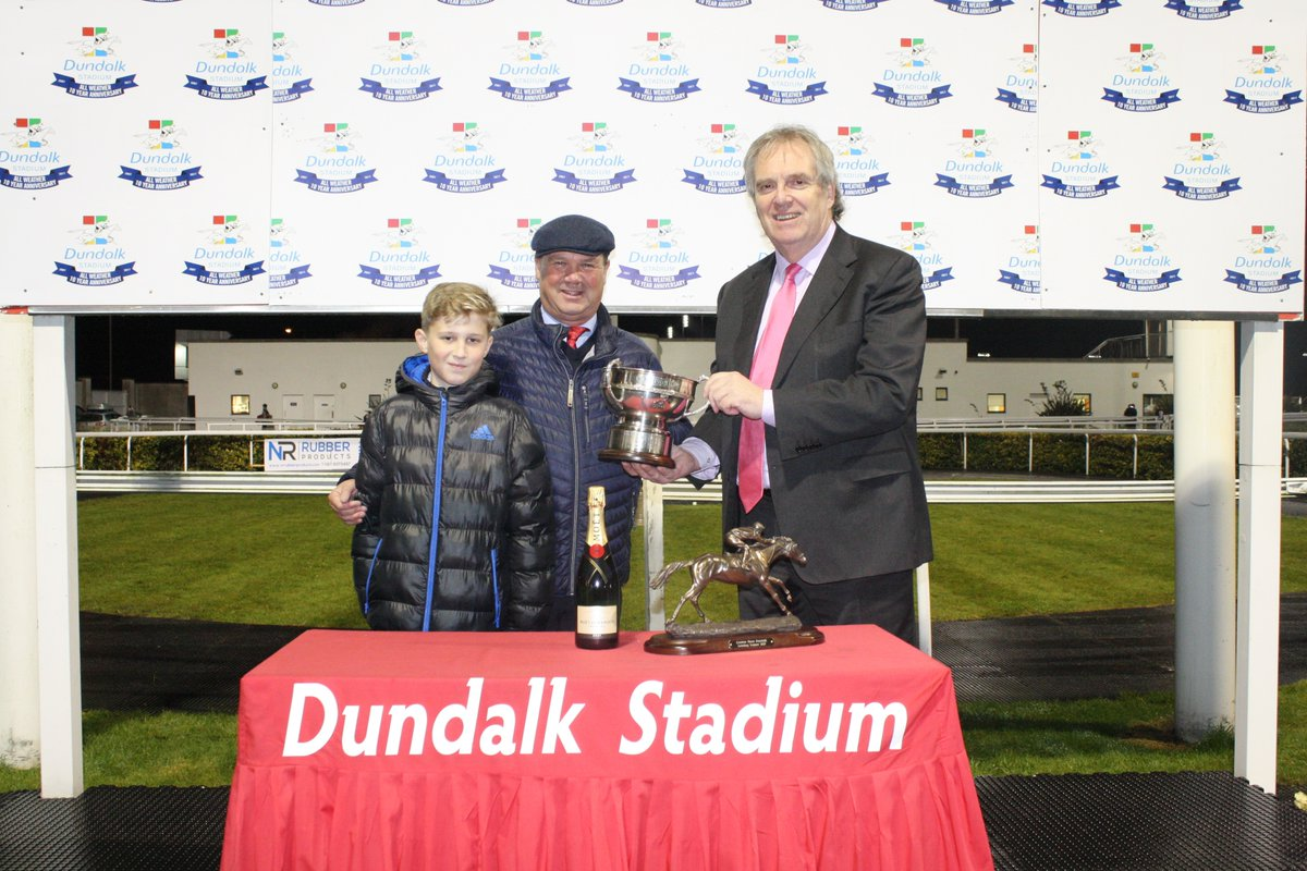 Dundalk Trainers Championship 2017 presentation with Josh Halford and Jim Martin, CEO Dundalk Stadium
