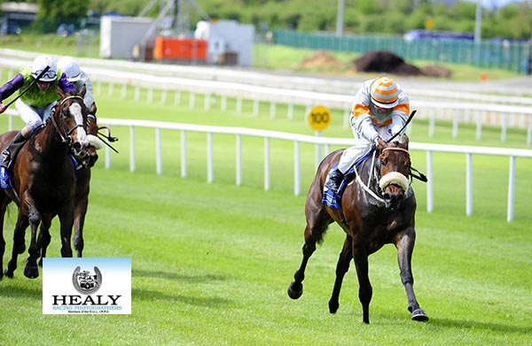 CURRAGH 11-5-18. ARCANEARS and Colm O'Donoghue win for trainer Michael Halford. Photo HEALY RACING.
